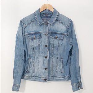 EDDIE BAUER Denim Jacket W/Button front